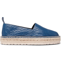 Balenciaga Creased-Leather Espadrilles
