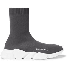 Balenciaga Hi-Sock Stretch-Knit Sneakers