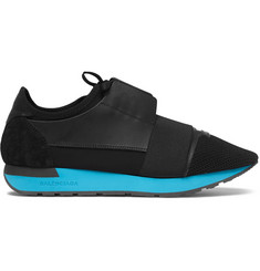 Balenciaga Match Leather, Suede, Neoprene and Mesh Sneakers