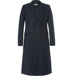 Dries Van Noten - Royce Slim-Fit Strap-Detailed Double-Breasted Cotton and Linen-Blend Twill Coat