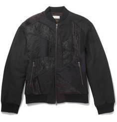 Dries Van Noten - Embroidered Panelled Cotton and Linen-Blend Bomber Jacket