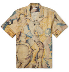 Dries Van Noten Carlton Camp-Collar Printed Linen Shirt