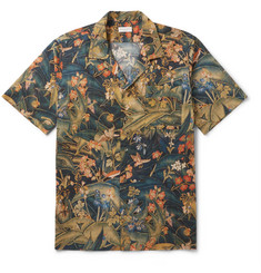 Dries Van Noten Camp-Collar Printed Cotton Shirt