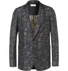 Dries Van Noten - Linen and Cotton-Blend Jacquard Suit Jacket