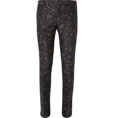 Dries Van Noten Slim-Fit Linen and Cotton-Blend Jacquard Suit Trousers