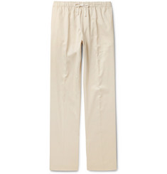 Dries Van Noten Perkins Contrast-Trimmed Satin-Twill Drawstring Trousers