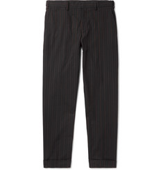 Dries Van Noten Philip Slim-Fit Pinstriped Cotton Trousers