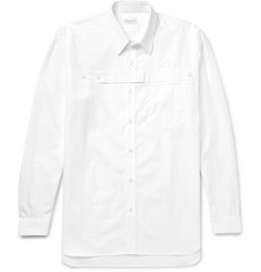 Dries Van Noten Panelled Cotton-Poplin Shirt