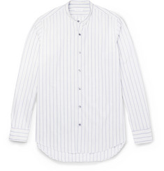 Dries Van Noten - Claver Grandad-Collar Striped Cotton Shirt