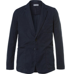 Dries Van Noten Blue Bailey Slim-Fit Unstructured Cotton and Linen-Blend Canvas Blazer