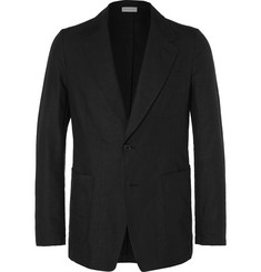 Dries Van Noten - Black Cotton and Linen-Blend Blazer