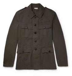 Dries Van Noten Baez Slim-Fit Cotton and Linen-Blend Field Jacket