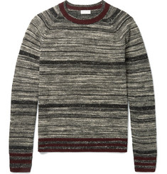 Dries Van Noten Mélange Striped Cashmere-Blend Sweater