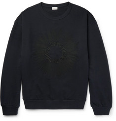 Dries Van Noten Hoxton Oversized Embroidered Loopback Cotton-Jersey Sweatshirt