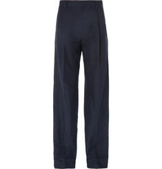 Dries Van Noten Wide-Leg Cotton and Linen-Blend Twill Trousers