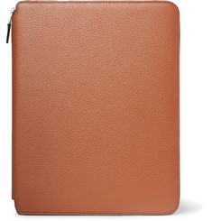 Smythson Burlington A4 Full-Grain Leather Writing Folder