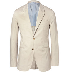 Caruso - Cream Butterfly Slim-Fit Unstructured Stretch-Cotton Blazer