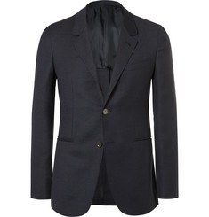 Caruso - Blue Butterfly Slim-Fit Unstructured Wool, Mohair and Silk-Blend Blazer