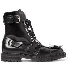 Dries Van Noten Buckled Polished-Leather Boots