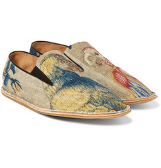 Dries Van Noten - Printed Bouclé Espadrilles