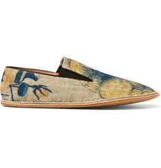 Dries Van Noten Printed Bouclé Espadrilles