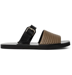 Dries Van Noten Quilted Leather Slides
