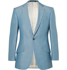 Richard James Blue Slim-Fit Wool, Linen and Mohair-Blend Suit Jacket