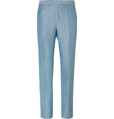 Richard James Blue Slim-Fit Wool, Linen and Mohair-Blend Suit Trousers