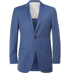 Richard James Blue Slim-Fit Mélange Wool Suit Jacket