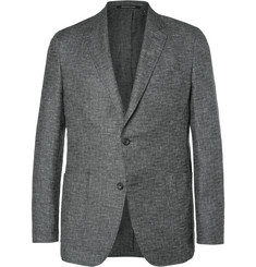 Richard James Grey Spirit Linen and Wool-Blend Hopsack Blazer
