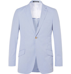 Richard James Blue Seishin Slim-Fit Striped Cotton-Blend Seersucker Blazer