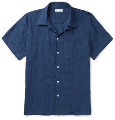 Richard James Camp-Collar Linen Shirt