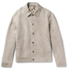 Richard James Slim-Fit Suede Blouson Jacket