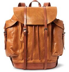 Dries Van Noten Cross-Grain Leather Backpack