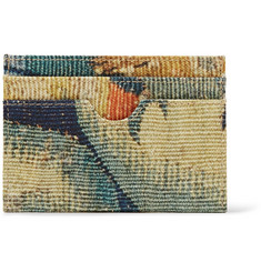 Dries Van Noten Printed Canvas Cardholder