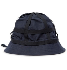 Dries Van Noten Grosgrain-Trimmed Cotton and Linen-Blend Bucket Hat