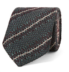Dries Van Noten 8cm Striped Virgin Wool, Silk and Linen-Blend Tie