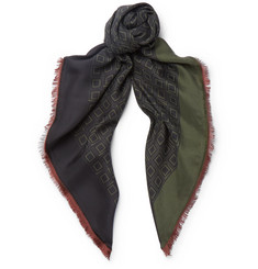 Dries Van Noten Tile-Print Silk Scarf