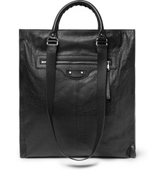 Balenciaga Arena Textured-Leather Tote Bag