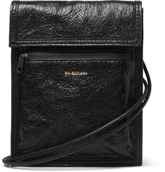 Balenciaga Arena Creased-Leather Pouch