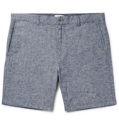 Club Monaco - Baxter Stretch Linen and Cotton-Blend Chambray Shorts
