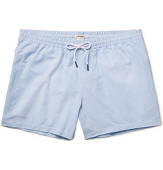 Club Monaco Arlen Slim-Fit Mid-Length Seersucker Swim Shorts