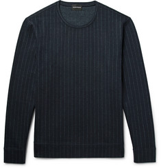 Club Monaco Pinstriped Wool-Blend Sweatshirt