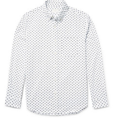 Club Monaco Slim-Fit Printed Cotton Shirt