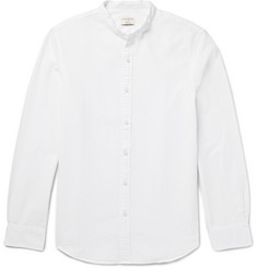 Club Monaco Slim-Fit Grandad-Collar Cotton-Seersucker Shirt
