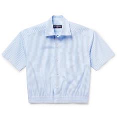 Balenciaga - Cropped Striped Cotton-Poplin Shirt