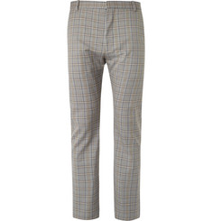 Balenciaga Beige Slim-Fit Checked Cotton Suit Trousers