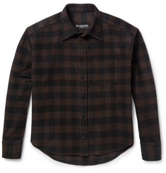 Balenciaga Brushed Wool-Blend Twill Overshirt