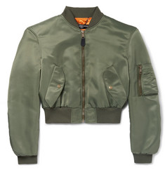 Balenciaga Cropped Shell Bomber Jacket