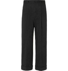 Bottega Veneta Wide-Leg Cotton-Twill Trousers
